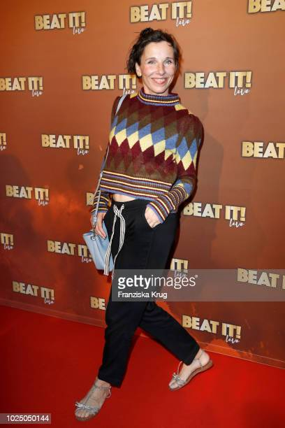 Actress Meret Becker attends the musical premiere of 'BEAT IT Die Show ueber den King of Pop' at Stage Theater on August 29 2018 in Berlin Germany