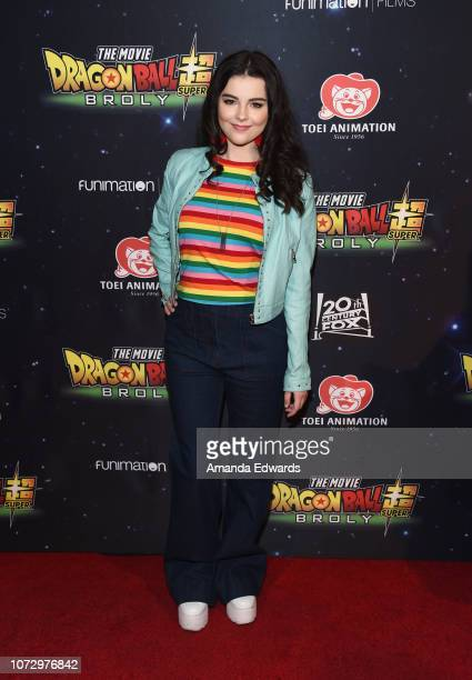 Actress Merit Leighton arrives at Funimation Films' Premiere of 'Dragon Ball Super Broly' at the TCL Chinese Theatre on December 13 2018 in Hollywood...