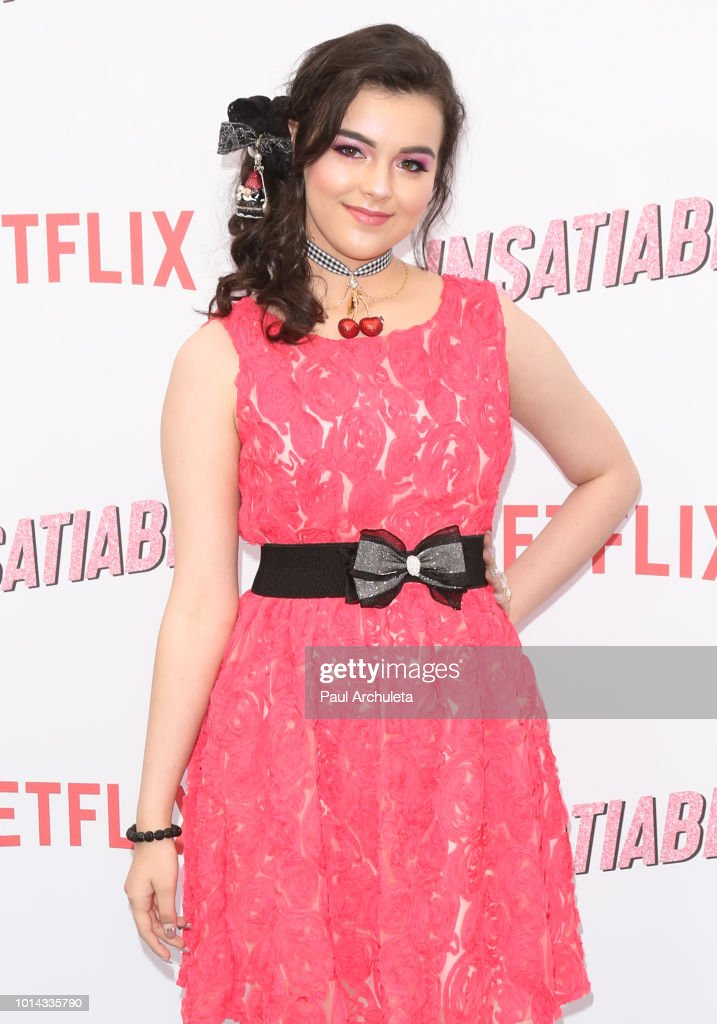 Actress Merit Leighton attends Netflix's 'Insatiable' season 1 premiere at ArcLight Hollywood on August 9, 2018 in Hollywood, California.