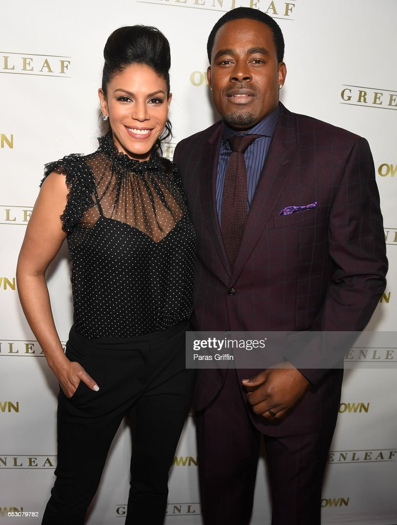 Actress Merle Dandridge and actor Lamman Rucker attend 'Greenleaf' Season 2 Premiere Party at W Atlanta Midtown on March 13, 2017 in Atlanta, Georgia.