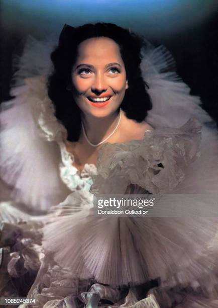 Actress Merle Oberon in a scene from the movie Lydia