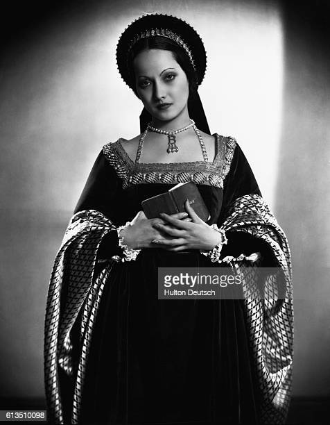 Actress Merle Oberon plays Anne Boleyn in the Private Life of Henry VIII 1933