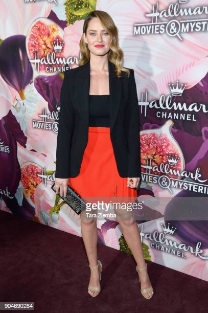 Actress Merritt Patterson attends Hallmark Channel and Hallmark Movies and Mysteries Winter 2018 TCA Press Tour at Tournament House on January 13...