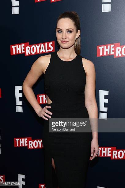 Actress Merritt Patterson attends The Royals New York Series Premiere at The Standard Highline on March 9 2015 in New York City