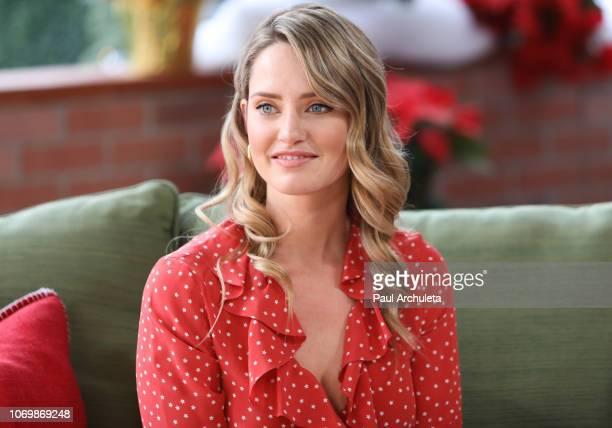 Actress Merritt Patterson visits Hallmark's Home Family at Universal Studios Hollywood on November 19 2018 in Universal City California