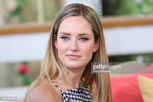 Actress Merritt Patterson visits Hallmark's Home Family at Universal Studios Hollywood on June 20 2018 in Universal City California