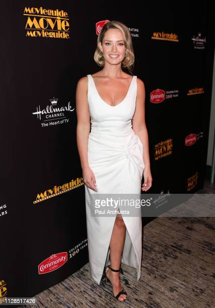 Actress Merritt Patterson visits the Press Room for the 27th Annual Movieguide Awards Gala at Universal Hilton Hotel on February 08 2019 in Universal...