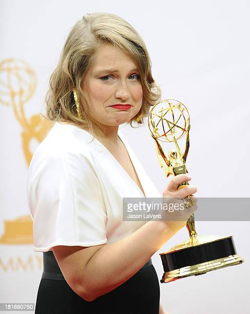 Actress Merritt Wever poses in the press room at the 65th annual Primetime Emmy Awards at Nokia Theatre LA Live on September 22 2013 in Los Angeles...