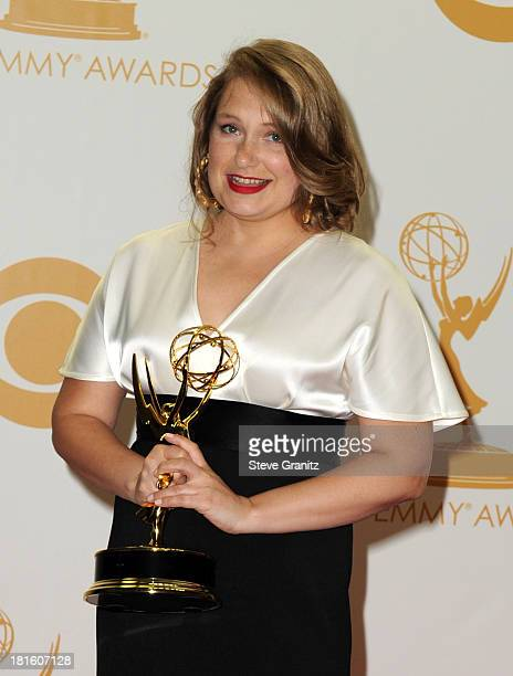 Actress Merritt Wever poses in the press room during the 65th Annual Primetime Emmy Awards held at Nokia Theatre LA Live on September 22 2013 in Los...