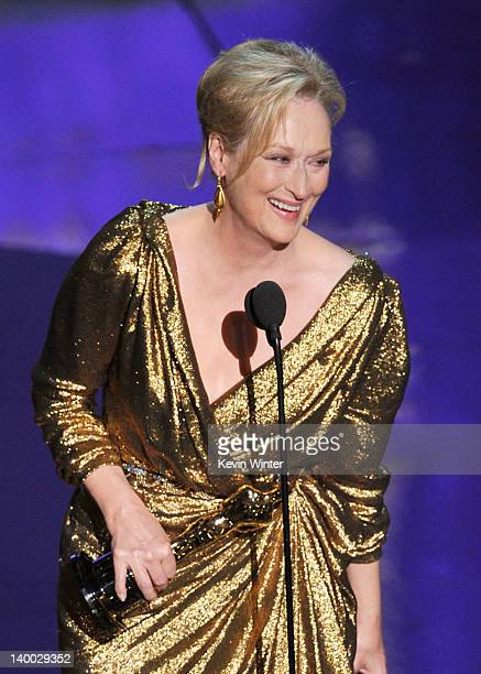 Actress Meryl Streep accepts the Best Actress Award for 'The Iron Lady' onstage during the 84th Annual Academy Awards held at the Hollywood Highland...