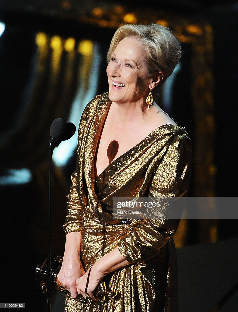Actress Meryl Streep accepts the Best Actress Award for 'The Iron Lady' onstage during the 84th Annual Academy Awards held at the Hollywood & Highland Center on February 26, 2012 in Hollywood, California.