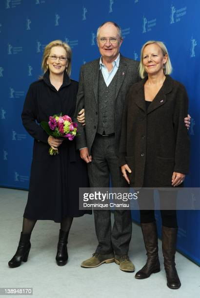 """Actress Meryl Streep, actor Jim Broadbent and director Phyllida Lloyd attend """"The Iron Lady"""" Photocall during day six of the 62nd Berlin..."""