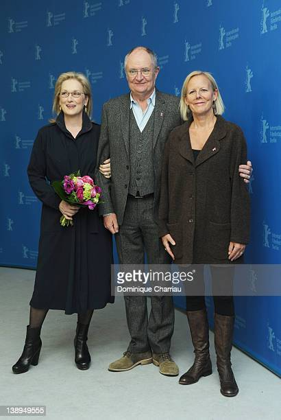 """Actress Meryl Streep, actorJim Broadbent and director Phyllida Lloyd attend """"The Iron Lady"""" Photocall during day six of the 62nd Berlin International..."""