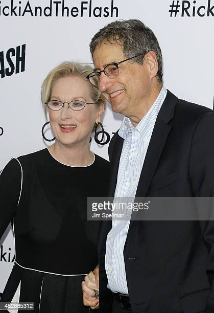 Actress Meryl Streep and chairman of Tristar Pictures Tom Rothman attend the Ricki And The Flash New York premiere at AMC Lincoln Square Theater on...