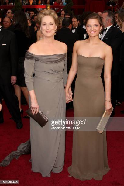 Actress Meryl Streep and daughter Louisa Jacobson Gummer arrive at the 81st Annual Academy Awards held at Kodak Theatre on February 22 2009 in Los...