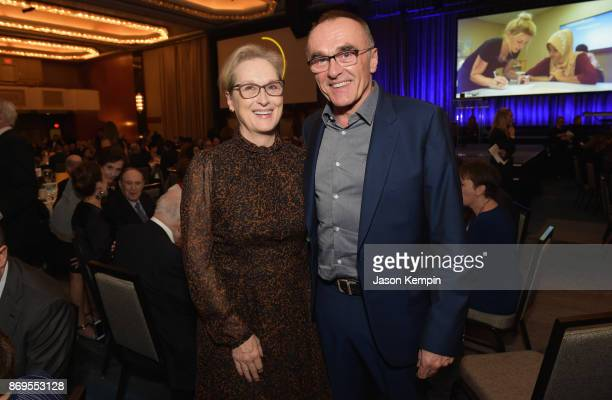 Actress Meryl Streep and Director Danny Boyle attend The 2017 Rescue Dinner hosted by IRC at New York Hilton Midtown on November 2 2017 in New York...