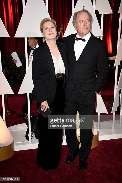 Actress Meryl Streep and Don Gummer attend the 87th Annual Academy Awards at Hollywood Highland Center on February 22 2015 in Hollywood California
