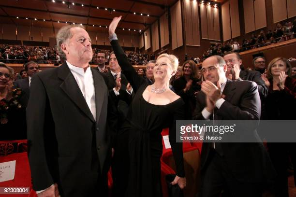 Actress Meryl Streep and her husband Don Gummer during the Official Awards Ceremony on Day 9 of the 4th International Rome Film Festival held at the...