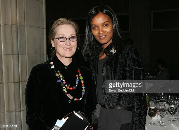 Actress Meryl Streep and Model Liya Kebede attend the Kagenoorg benefit at Guastavino's October 30 2006 in New York City