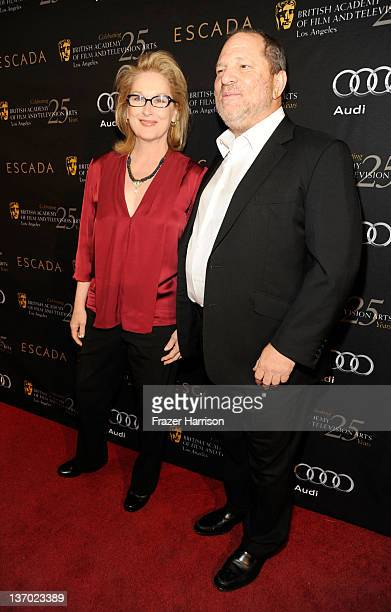 Actress Meryl streep and producer Harvey Weinstein attend BAFTA Los Angeles' 18th annual Awards Season Tea Party held at Four Seasons Hotel Los...