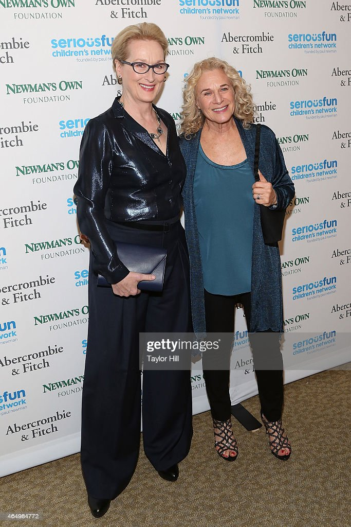 Actress Meryl Streep and songwriter Carole King attend the SeriousFun Children's Network's New York City Gala at Avery Fisher Hall on March 2, 2015 in New York City.