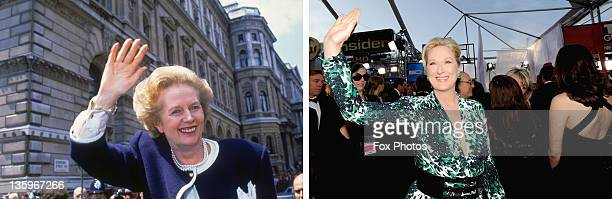 In this composite image a comparison has been made between Margaret Thatcher and Actress Meryl Streep Oscar hype begins this week with the...