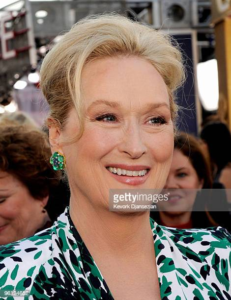 Actress Meryl Streep arrives at the 16th Annual Screen Actors Guild Awards held at the Shrine Auditorium on January 23 2010 in Los Angeles California