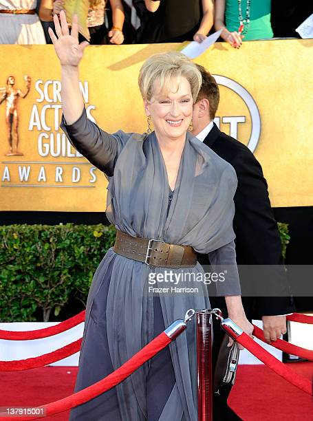 Actress Meryl Streep arrives at the 18th Annual Screen Actors Guild Awards at The Shrine Auditorium on January 29 2012 in Los Angeles California