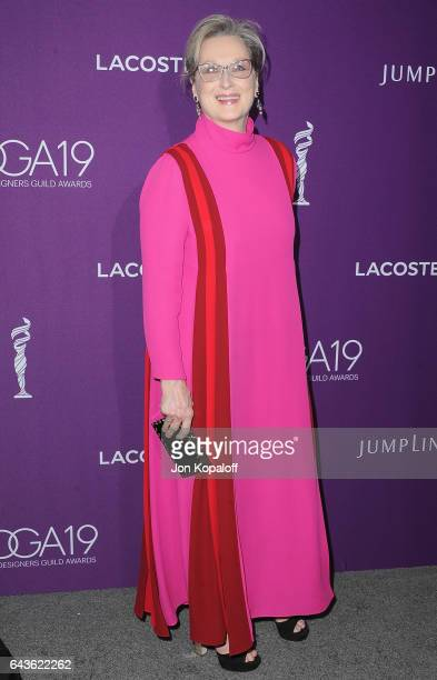 Actress Meryl Streep arrives at the 19th CDGA at The Beverly Hilton Hotel on February 21 2017 in Beverly Hills California