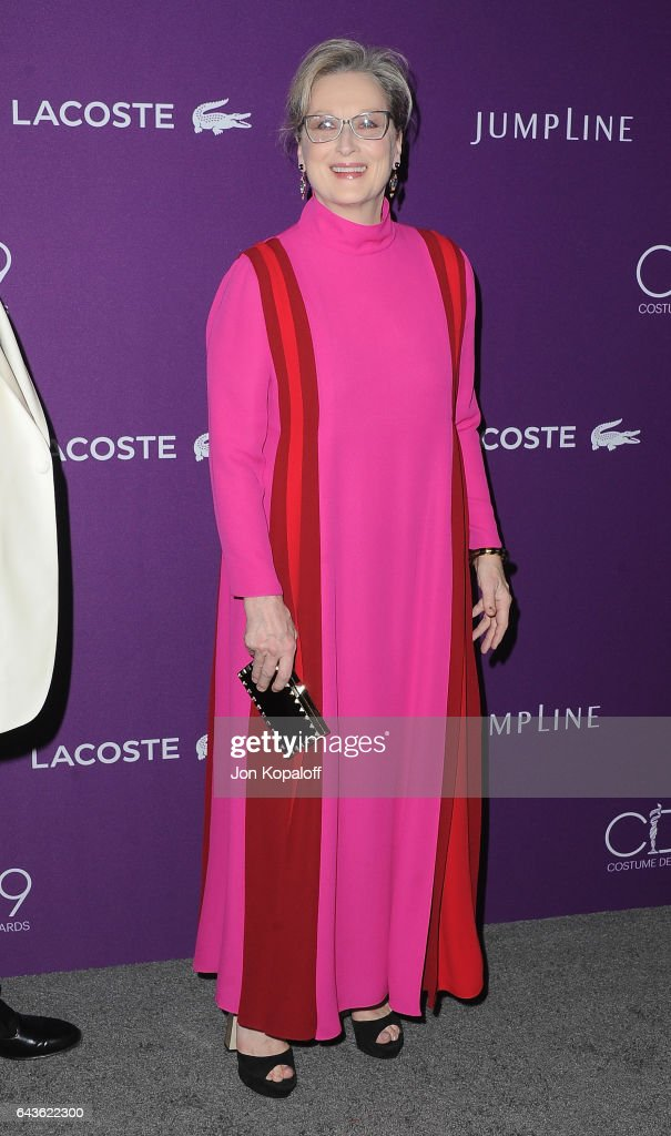 Actress Meryl Streep arrives at the 19th CDGA (Costume Designers Guild Awards) at The Beverly Hilton Hotel on February 21, 2017 in Beverly Hills, California.