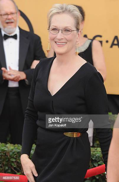 Actress Meryl Streep arrives at the 21st Annual Screen Actors Guild Awards at The Shrine Auditorium on January 25 2015 in Los Angeles California