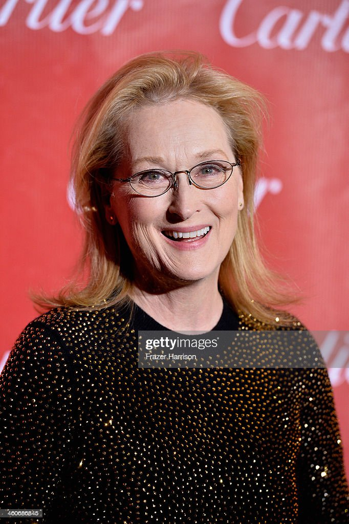 Actress Meryl Streep arrives at the 25th Annual Palm Springs International Film Festival Awards Gala at Palm Springs Convention Center on January 4, 2014 in Palm Springs, California.