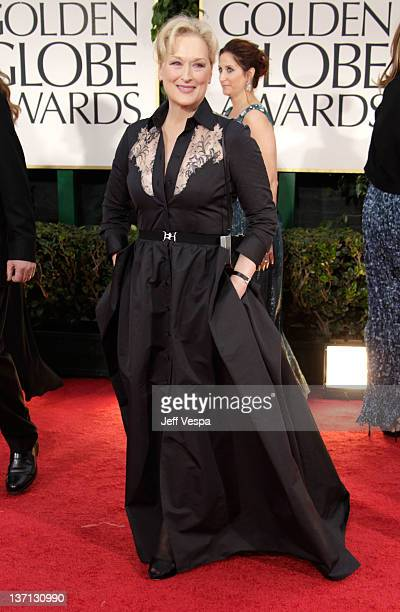 Actress Meryl Streep arrives at the 69th Annual Golden Globe Awards held at the Beverly Hilton Hotel on January 15, 2012 in Beverly Hills, California.