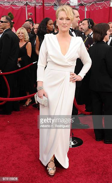 Actress Meryl Streep arrives at the 82nd Annual Academy Awards held at Kodak Theatre on March 7 2010 in Hollywood California