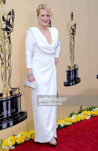 Actress Meryl Streep arrives at the 82nd Annual Academy Awards held at Kodak Theatre on March 7, 2010 in Hollywood, California.