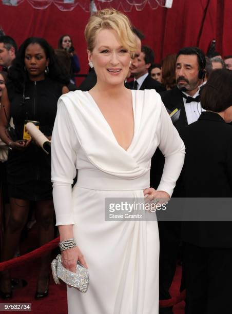 Actress Meryl Streep arrives at the 82nd Annual Academy Awards held at the Kodak Theatre on March 7 2010 in Hollywood California