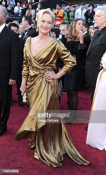 Actress Meryl Streep arrives at the 84th Annual Academy Awards at Hollywood & Highland Center on February 26, 2012 in Hollywood, California.