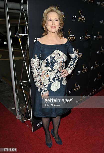 Actress Meryl Streep arrives at the Australian Academy Of Cinema And Television Arts International Awards Ceremony at Soho House on January 27, 2012...