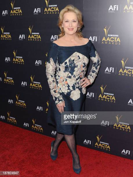 Actress Meryl Streep arrives at the Australian Academy Of Cinema And Television Arts Awards at Soho House on January 27, 2012 in West Hollywood,...