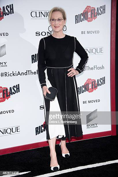 Actress Meryl Streep arrives at the New York premiere of Ricki And The Flash at AMC Lincoln Square Theater on August 3 2015 in New York City