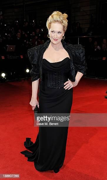 Actress Meryl Streep arrives at the Orange British Academy Film Awards 2012 at The Royal Opera House on February 12 2012 in London England
