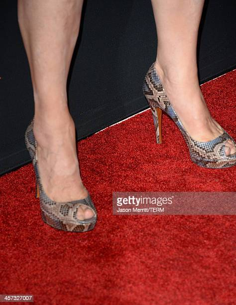 Actress Meryl Streep arrives at the premiere of The Weinstein Company's August Osage County at Regal Cinemas LA Live on December 16 2013 in Los...