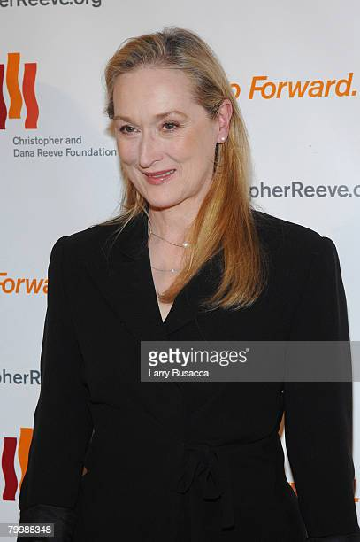 """Actress Meryl Streep attends """"A Magical Evening"""" hosted by The Christopher and Dana Reeve Foundation at The Marriott Marquis on November 12, 2007 in..."""