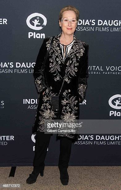 Actress Meryl Streep attends 'India's Daughter' New York Screening at Baruch College on March 9 2015 in New York City