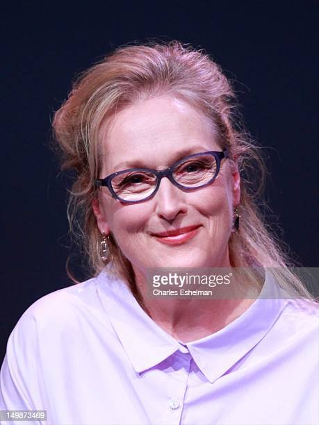 """Actress Meryl Streep attends Meet the Filmmakers: """"Hope Springs"""" at the Apple Store Soho on August 5, 2012 in New York City."""