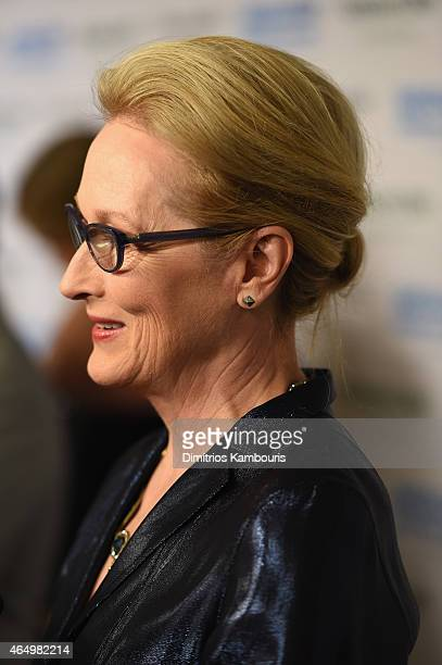 Actress Meryl Streep attends SeriousFun Children's Network's New York City Gala at Avery Fisher Hall Lincoln Center on March 2 2015 in New York City