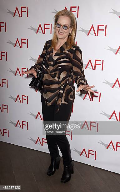 Actress Meryl Streep attends the 15th Annual AFI Awards at Four Seasons Hotel Los Angeles at Beverly Hills on January 9, 2015 in Beverly Hills,...