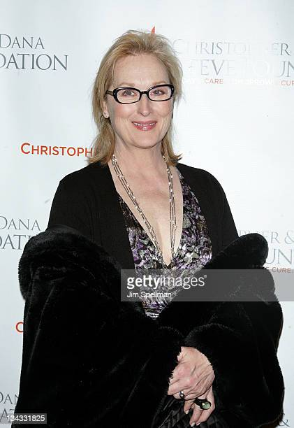 Actress Meryl Streep attends the 2011 Christopher & Dana Reeve Foundation's A Magical Evening benefit at Cipriani, Wall Street on November 30, 2011...