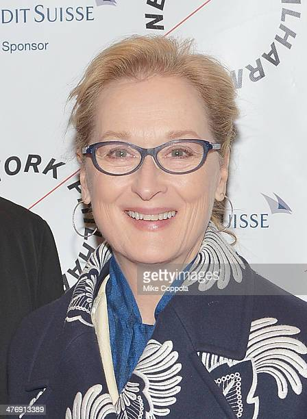Actress Meryl Streep attends the 2014 The New York Philharmonic Spring Gala featuring Sweeney Todd The Demon Barber of Fleet Street at Josie...
