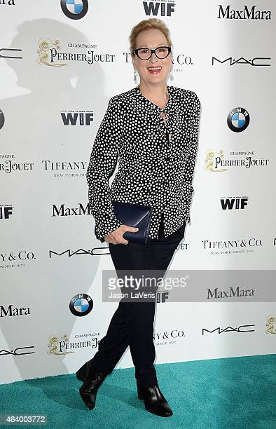 Actress Meryl Streep attends the 8th annual Women In Film PreOscar cocktail party at HYDE Sunset Kitchen Cocktails on February 20 2015 in West...